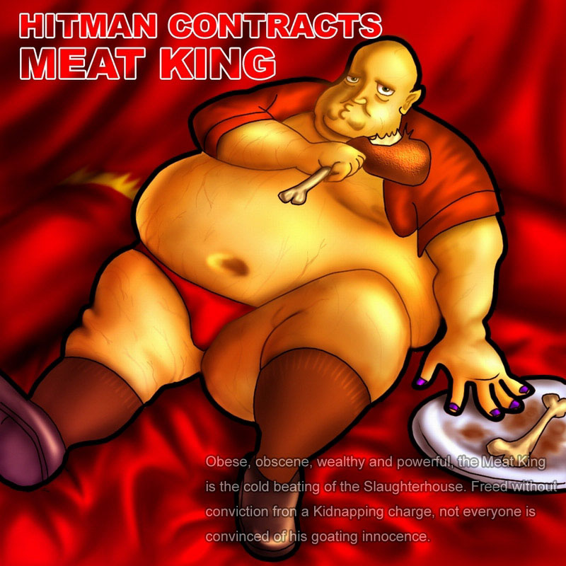 HITMAN CONTRACTS裡面的 MEAT KUNG:該遊戲的第一個頭目..笨重又愛吃..XD?P??P
